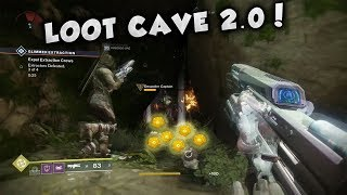 "DESTINY 2 - HOW TO FARM FOR UNLIMITED ENGRAMS! NEW ""LOOT CAVE"" 2.0!"