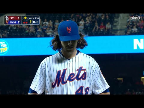 STL@NYM: deGrom allows one run over 6 2/3 frames