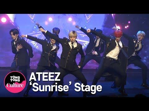ATEEZ(에이티즈) 'Sunrise' Showcase Stage 쇼케이스 무대 (홍중,성화,윤호,여상,산,민기,우영,종호) [통통TV]