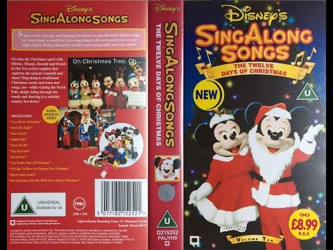 Sing Along Songs - The Twelve Days of Christmas [UK VHS] (1994)