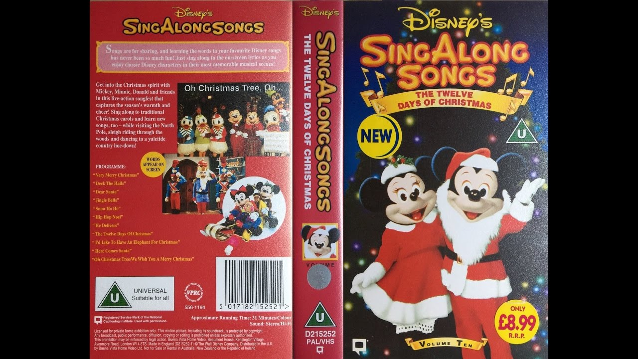 sing along songs the twelve days of christmas uk vhs 1994 youtube