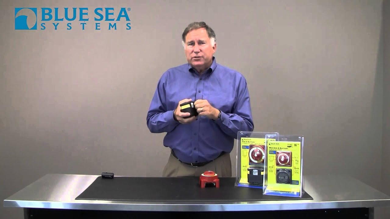 Blue Sea Systems Add A Battery - YouTube Blue Sea Acr Wiring Relay Diagram on blue sea 7650 installation, blue sea fuse block wiring diagram, carolina skiff diagram, blue sea acr with two engines, blue sea battery selector wiring,