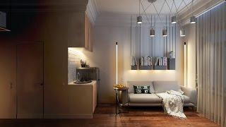 Интерьер очень маленькой квартиры студии. Дизайн гостинка студии 16 кв.м. Фото(, 2016-01-22T17:30:59.000Z)