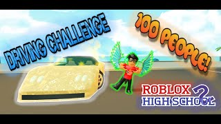 Roblox 100 person exotic car driving challenge! (100 Sub Special)