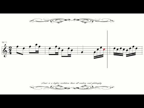 [Sheet Music] Bach Orchestersuite 2-7 badinerie