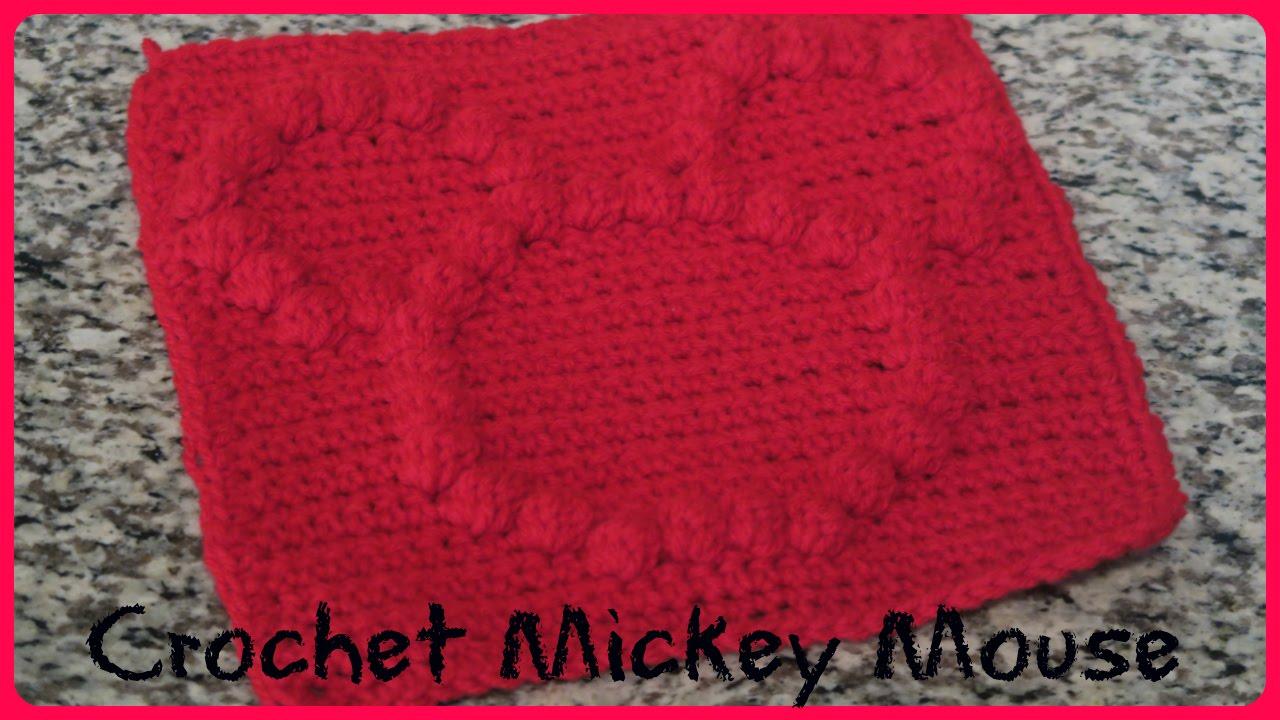 Crochet Bobble Stitch Mickey Mouse Youtube