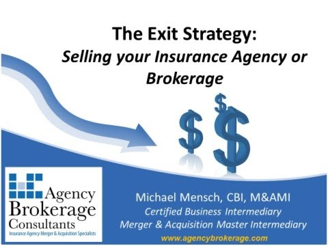 Selling an Insurance Agency or Brokerage