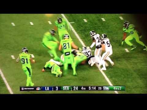 Seattle Seahawks Fake Punt ..... Punter Jon Ryan Injured on play