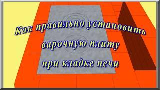 Печь из кирпича своими руками: правильная установка варочной плиты (видеоурок)