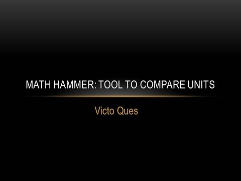 Math Hammer Tool to compare units