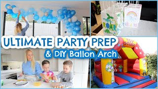ULTIMATE PARTY PREP DURING A PANDEMIC | KIDS PARTY IDEAS & DIY BALLOON ARCH | Emily Norris