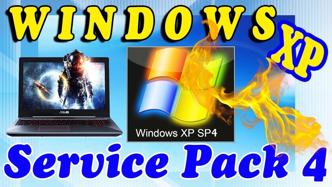 Установка Windows XP Service Pack 4 на старый ноутбук