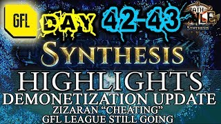 Path of Exile 3.6: SYNTHESIS DAY # 42-43 Highlights CHANNEL DEMONETISATION UPDATE, RIPS, RNG AND FUN