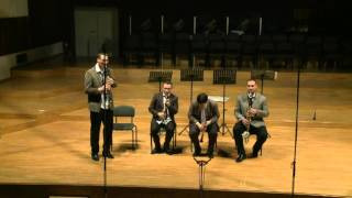 V. Monti: Czardas (with four chairs) - Clarinet quartet Nevsky