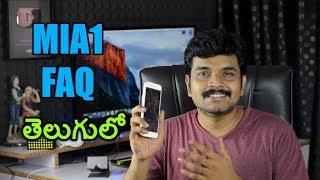 Xiaomi MiA1 FAQ FM Radio,Fast charging,VideoCalling,USB Version etc ll in telugu ll