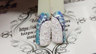 дизайн ногтей для начинающих мастеров. зимние узоры.