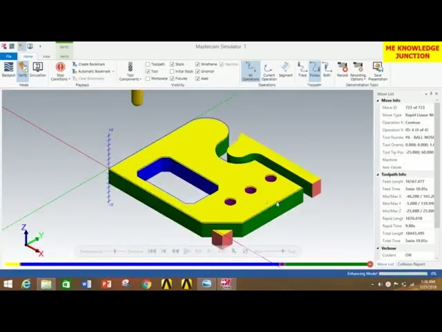 MILLING OPERATIONS IN MASTERCAM 2020 ||Milling operations in