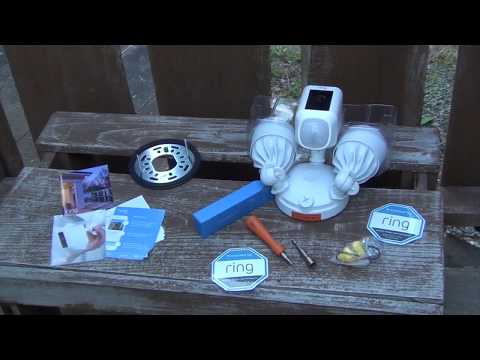 Ring Floodlight Cam Blogger Unboxing And Installation Youtube