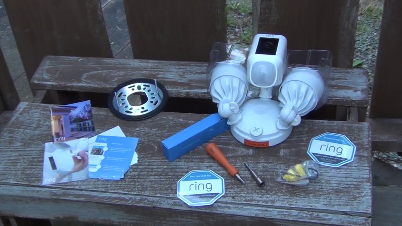 Ring Floodlight Cam Blogger Unboxing And Installation
