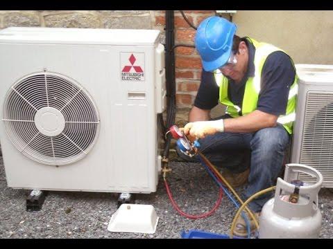 Resultado de imagen para instalar, arreglar o cargar un aire acondicionado