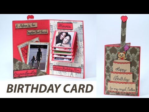 Handmade Birthday Card for Mom - Pull Tab Sliding Greeting Card