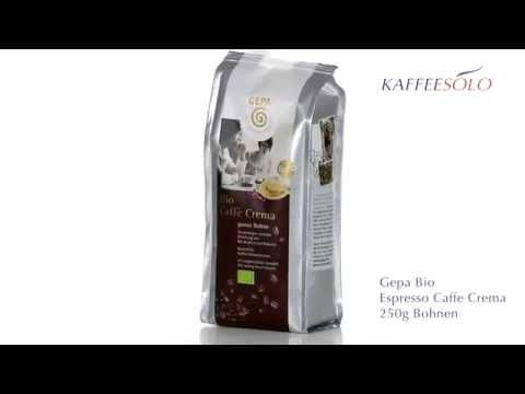 Gepa Bio Espresso Caffe Crema 250g Bohnen