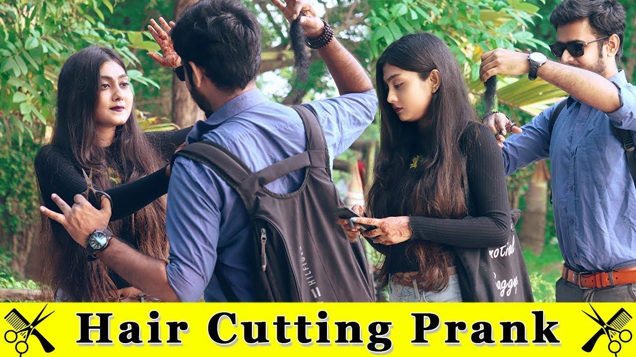 Cutting Girls Hair Prank || Prank In India 2020 || Funday Pranks