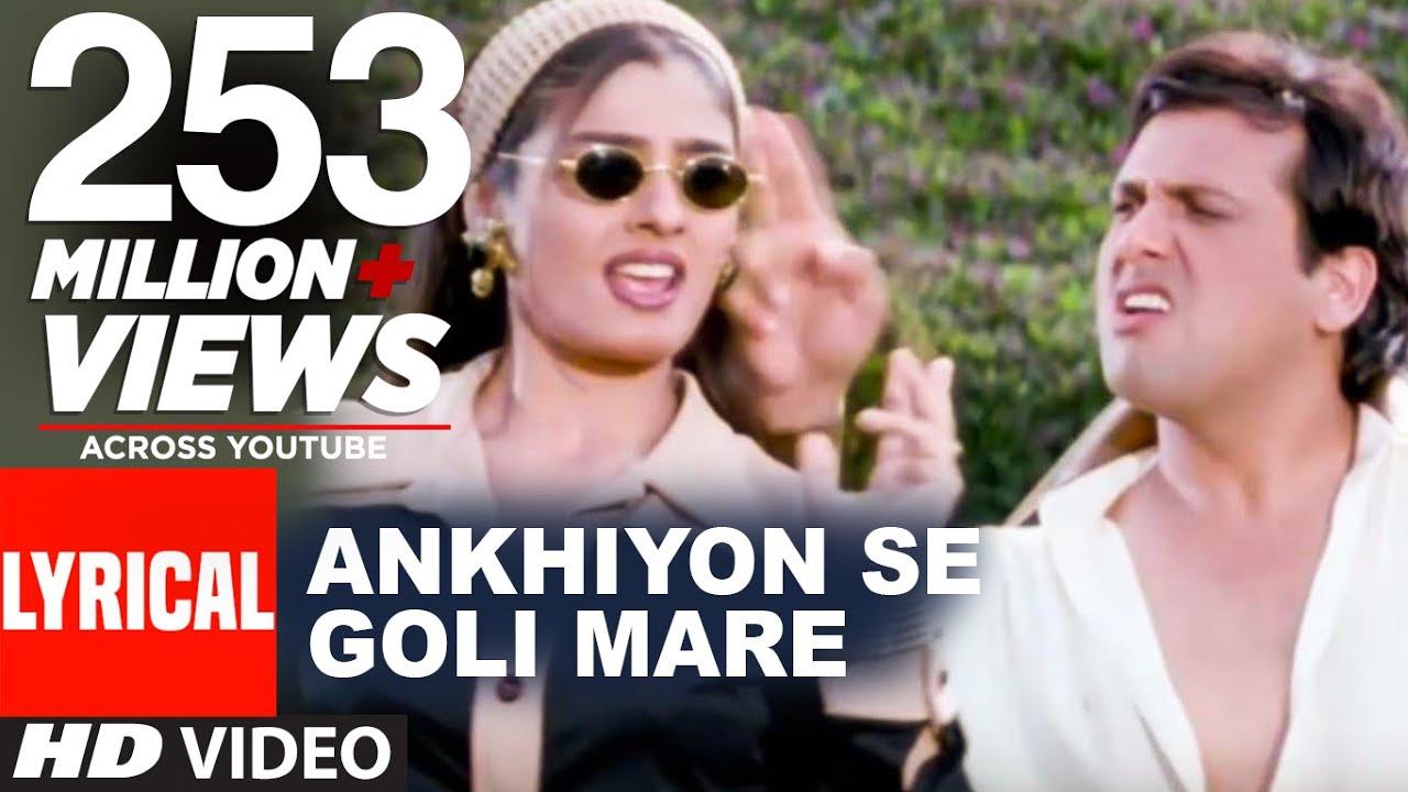 Download Ankhiyon Se Goli Mare Lyrical Video | Dulhe Raja | Sonu Nigam | Govinda, Raveena Tandon