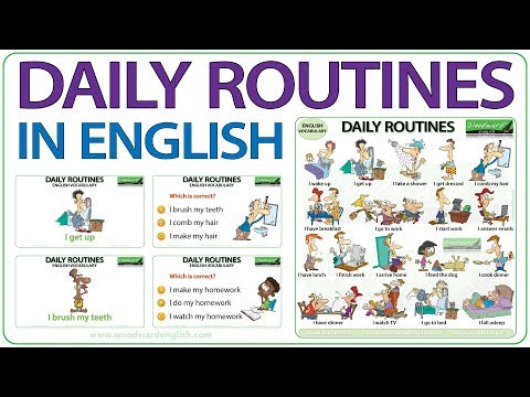Daily Routines and Activities - English Vocabulary