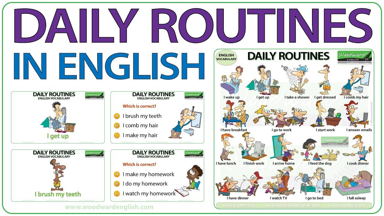 Daily Routines and Activities - English Vocabulary - Vocabulario
