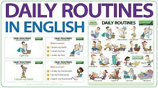 Daily Routines in English - Vocabulary