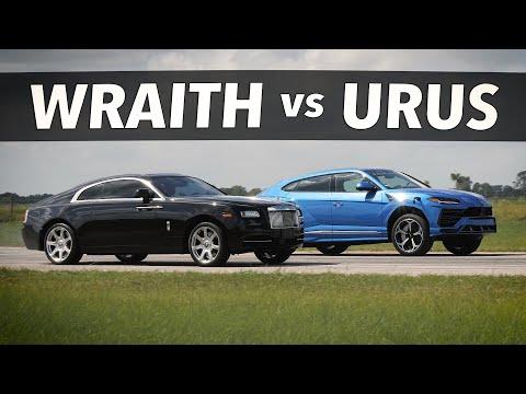 Rolls-Royce Wraith vs HPE750 Lamborghini Urus | Drag and Roll Race Comparison!