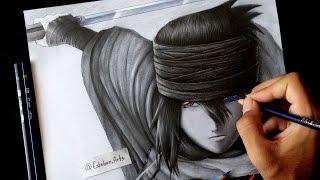 Como dibujar a Sasuke Uchiha   How To Draw Sasuke Uchiha   The Last   Esteban Art