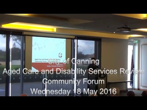 Community Forum 1: Aged Care & Disability Services Review