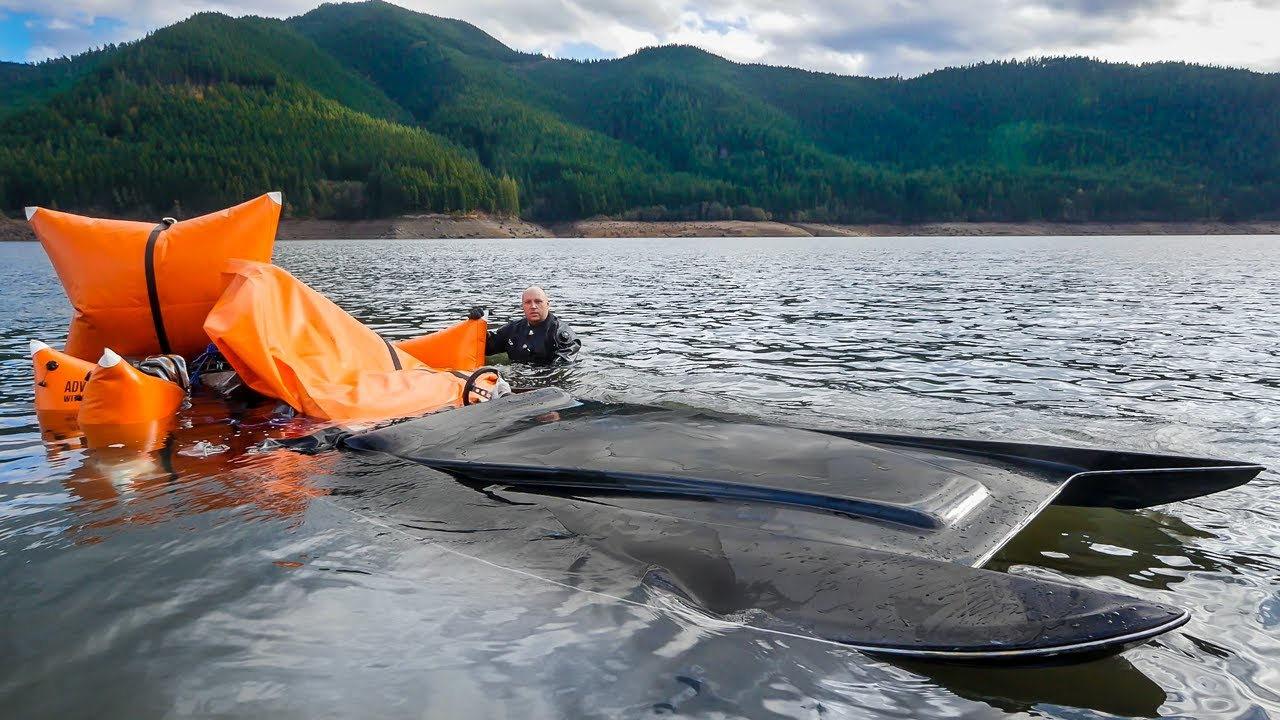 Found $7,000 JET BOAT SUNK 53' UNDERWATER in the Lake!