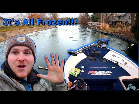 Breaking Ice To Try And Win A Bass Fishing Tournament (Was It Worth It?)