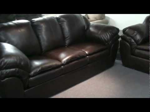 Ashely Furniture by Signature Design Faux Leather Plush Sofa and Love