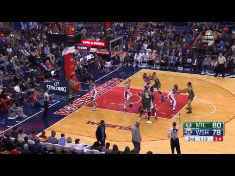 Milwaukee Bucks vs Wizards  - Full Highlights | Dec 26,2016 | 16-17 Season NBA