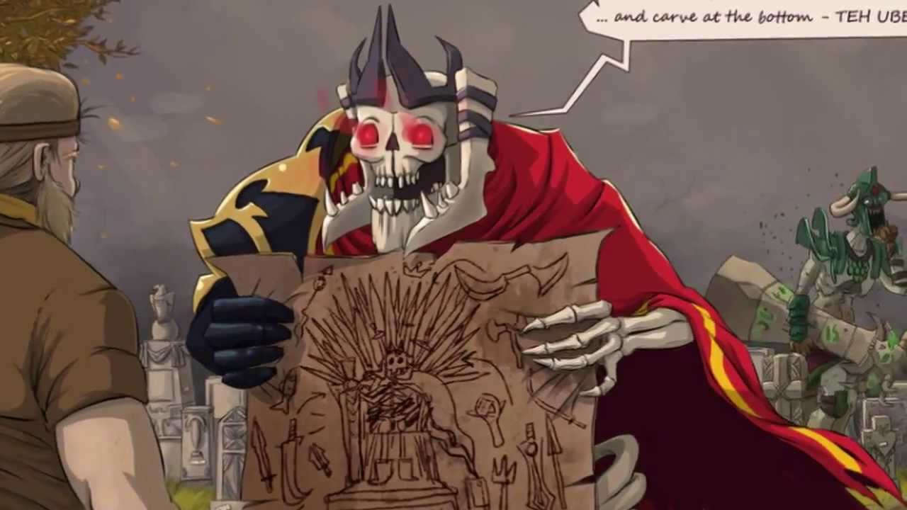 DotA2 RIP Skeleton King 720p - YouTube