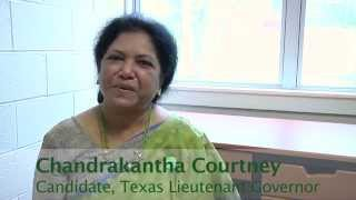 Chandrakantha Courtney, Green Party Candidate for Texas Lieutenant Governor 2014