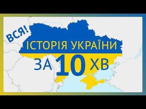 Історія України за 10 хвилин / Українська історія / History Of Ukraine (english Subtitles) ЗНО