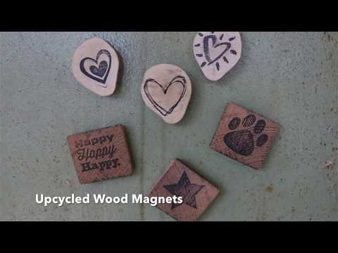 How To Make Upcycled Rustic Wood Magnets | DIY | Homemade | Upcycle