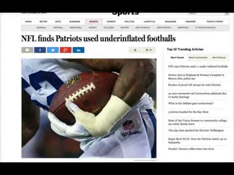The Truth about the NFL Underinflated Football Cover-up Conspiracy Deflate-Gate