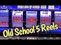 Old School DOUBLE Dollars! 5-REELS w/ Free Games! Fun WINS!