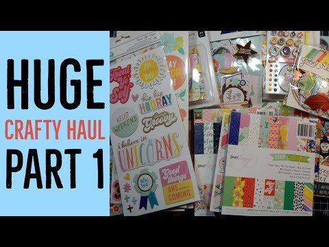 Crafty Haul | The Ton, SSS, Scrapbook.com | March 2018 | Part 1
