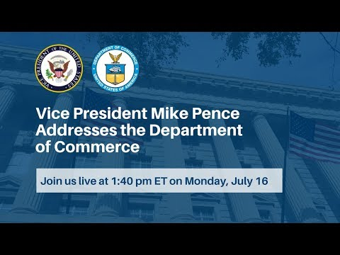 Vice President Mike Pence Addresses the Department of Commerce