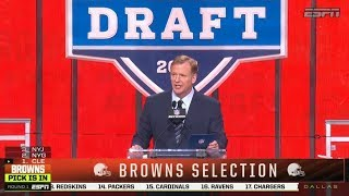 Browns Select QB Baker Mayfield With 1st Overall Pick | 2018 NFL Draft | Apr 26, 2018