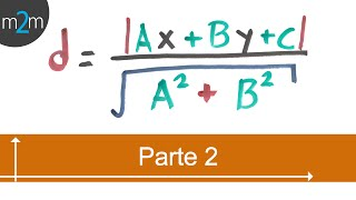 Distancia entre un punto y una recta - geometría analítica (PARTE 2)