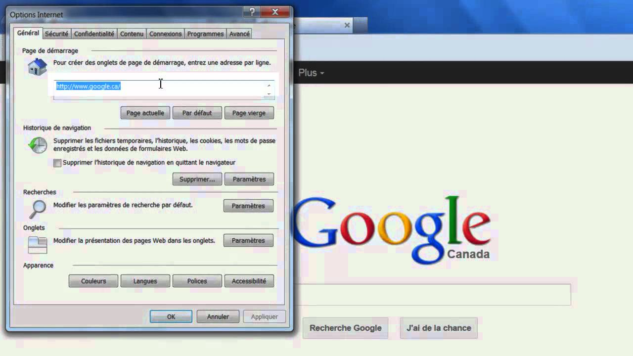 Definir Google Comme Page D Accueil Mp4 Youtube