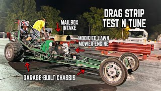 670cc Harbor Freight Drag Rail Hits the Track (First Time in 2 YEARS)!